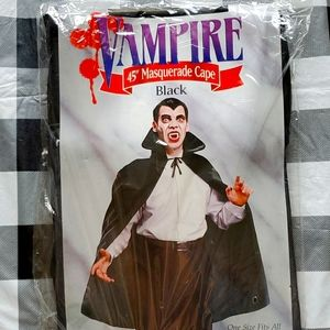 "Halloween Vampire 45"" Masquerade Cape NWT"